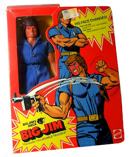 "Mattel's Big Jim PACK ""Commander"" Jim figure  - Double-Trouble version - boxed"