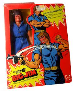 """Mattel's Big Jim PACK """"Commander"""" Jim figure  - Double-Trouble version - boxed"""