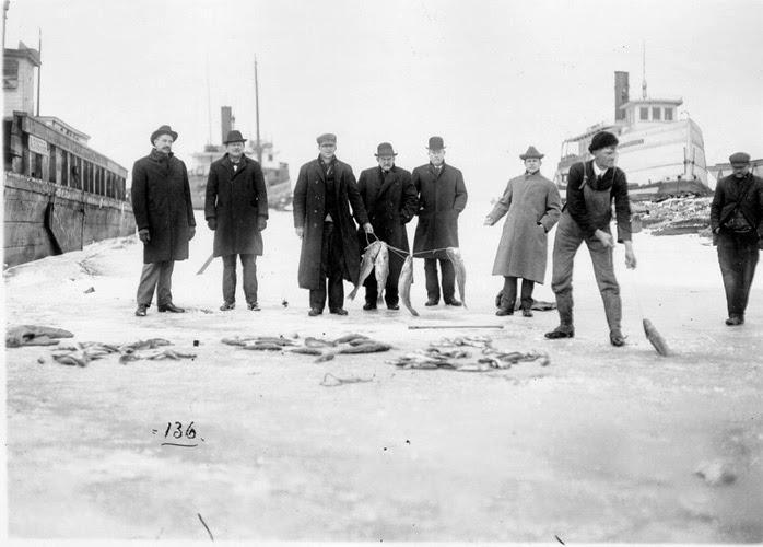 Sandusky History: Ice Fishing on Sandusky Bay