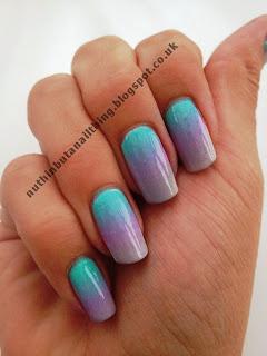 pastel gradient nail nails art