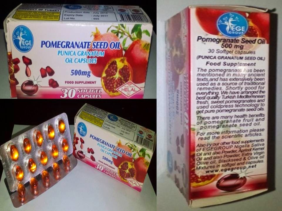 Softgel Pamogranate (Kapsul minyak delima)