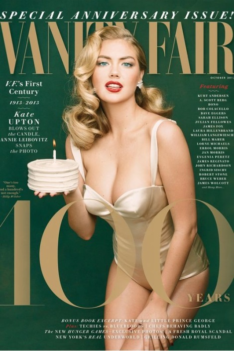 Kate Upton by Annie Leibovitz for Vanity Fair's October 2013 Special 100th Anniversary Issue