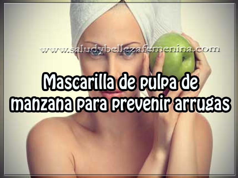 Cuidados del rostro , belleza , mascarilla de pulpa de  manzana para prevenir arrugas