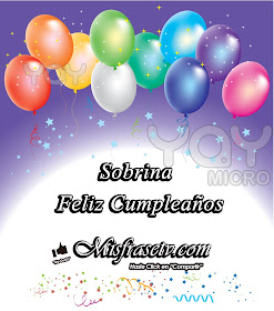 Feliz Cumpleaños, Feliz Cumpleaños Sobrina, Frases de Feliz Cumpleaños para mi sobrina,