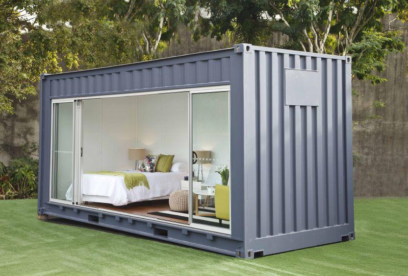 Casas contenedores habitaciones exteriores en m dulos for Casa contenedor precio