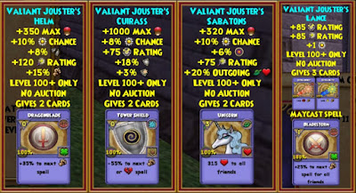 Wizard101 Grand Tourney Arena Gauntlet Bundle Level 100+ Gear