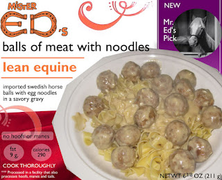 funny horse meat horsemeat Mr. Ed's swedish meat balls