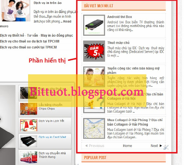 Cách tạo widget bài mới nhất có ảnh cho blogspot