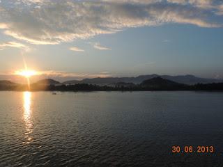 Sun Set di penyebrangan Padangbai Lombok