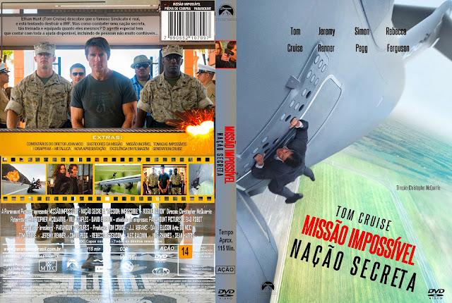 Capa DVD Missão Impossível Nação Secreta