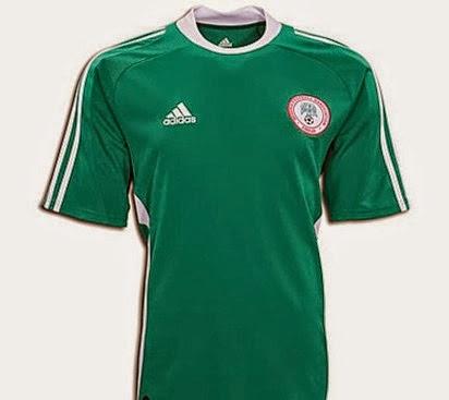 Kostum Timnas Nigeria Piala Dunia 2014