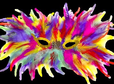Máscara Carnaval PNG - Multi cor