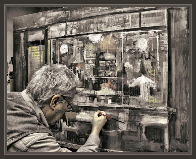 CREACION ARTISTICA-PINTURA-CUADROS-PINTORES-PINTANDO-ESTUDIO-