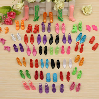 80x =40 Pairs Different High Heel Shoes Boots For Barbie Doll Dresses Clothes