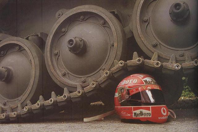Testing helmets.