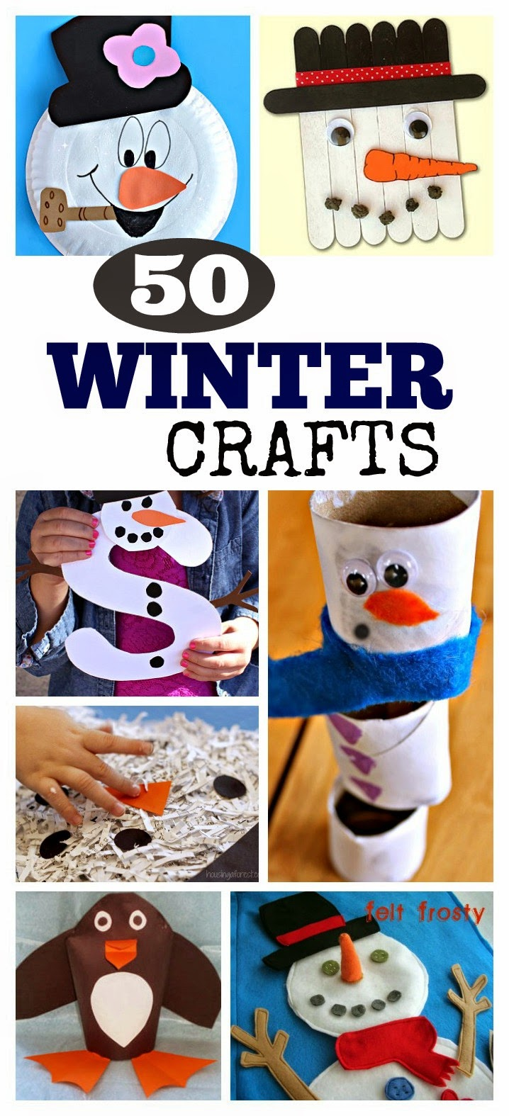 50 Winter Crafts Kids Love