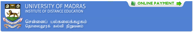 University of Madras Results 2012 - 2013