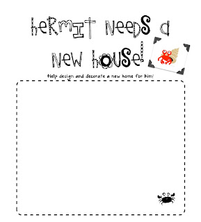 first grade blue skies a house for hermit crab and freebie. Black Bedroom Furniture Sets. Home Design Ideas