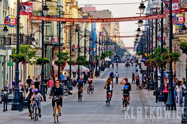 Łódź: rowerowa Piotrkowska
