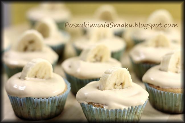 Cupcakes z kajmakiem i bananem