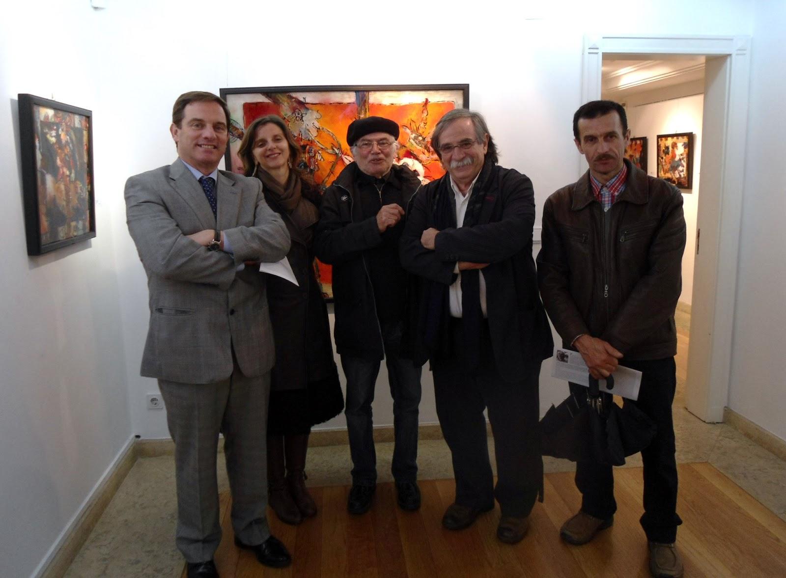 Alvaro Lobato de Faria, MAC,  at the opening of  Fernando d`F. Pereira's exhibition