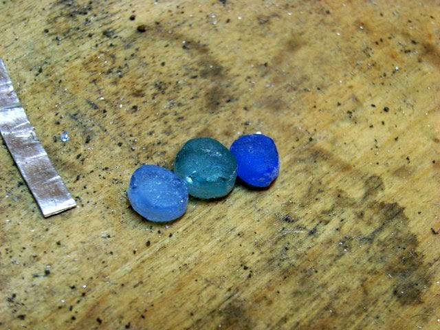 sea glass seaglass blues for ring