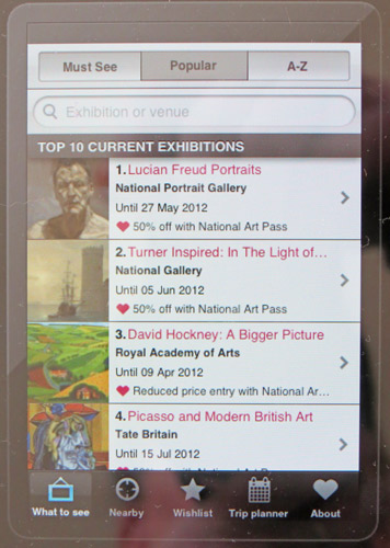 Art Guide app from iTunes