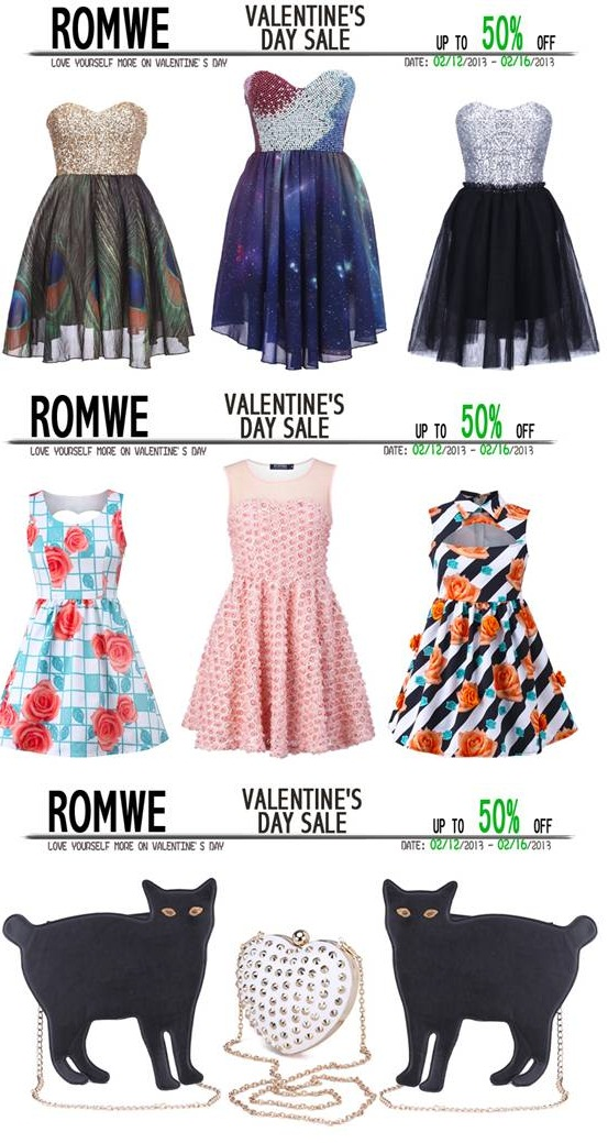 Valentine's Day! Hottest Offer by Romwe.com