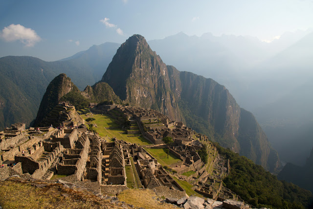 A photograph of Machu Picchu in Peru