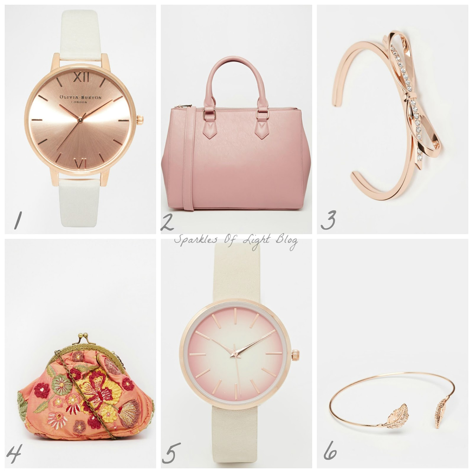 pink and rose gold wishlist accessories sparkles of light