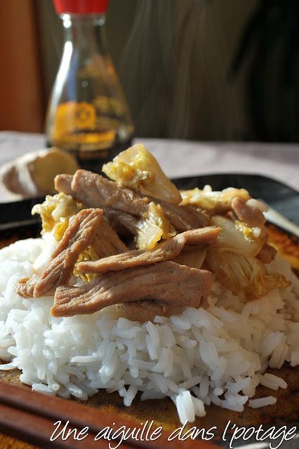 porc sauté au chou et au gingembre cuisine japonaise