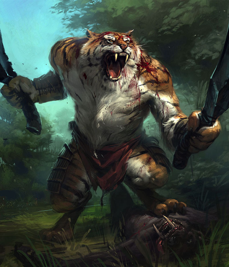 best warrior on tiger - photo #26