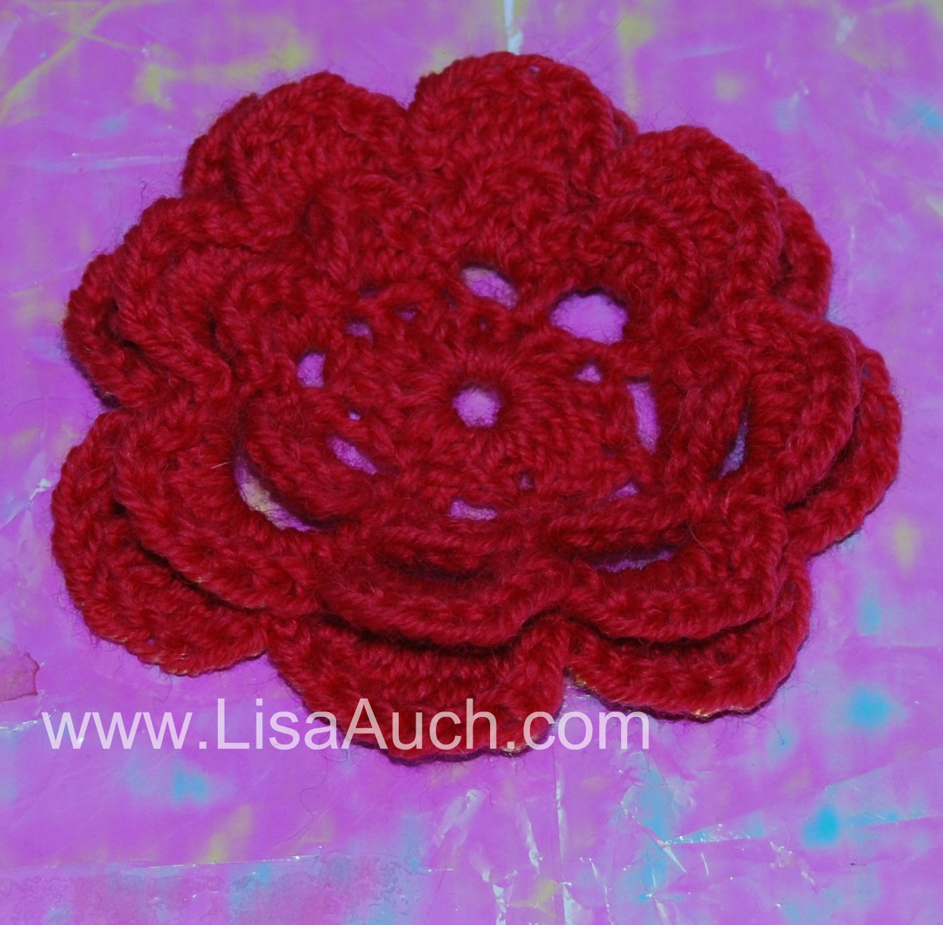 Free Crochet Pattern Large Flower : Alfa img - Showing > Easy Large Crochet Flower Patterns