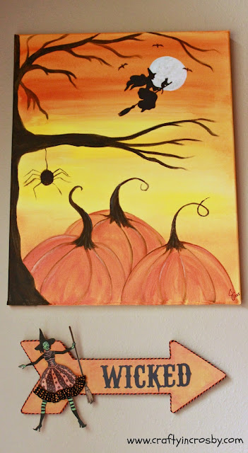 Inkadinkado Stamps, witch, witch stamp, Wicked, pumpkin painting
