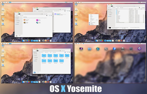 Turn Windows 8 into Mac OS X Yosemite
