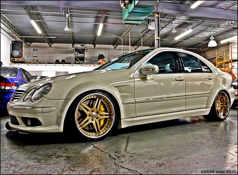 mercedes benz c55 amg w203 widebody benztuning. Black Bedroom Furniture Sets. Home Design Ideas