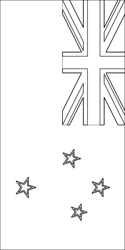 colorear bandera de Nueva Zelanda para imprimir