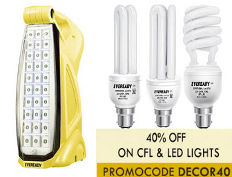 Paytm: Buy Lamp & Lighting at Upto 65% Off + 40% Cashback on order of Rs. 499