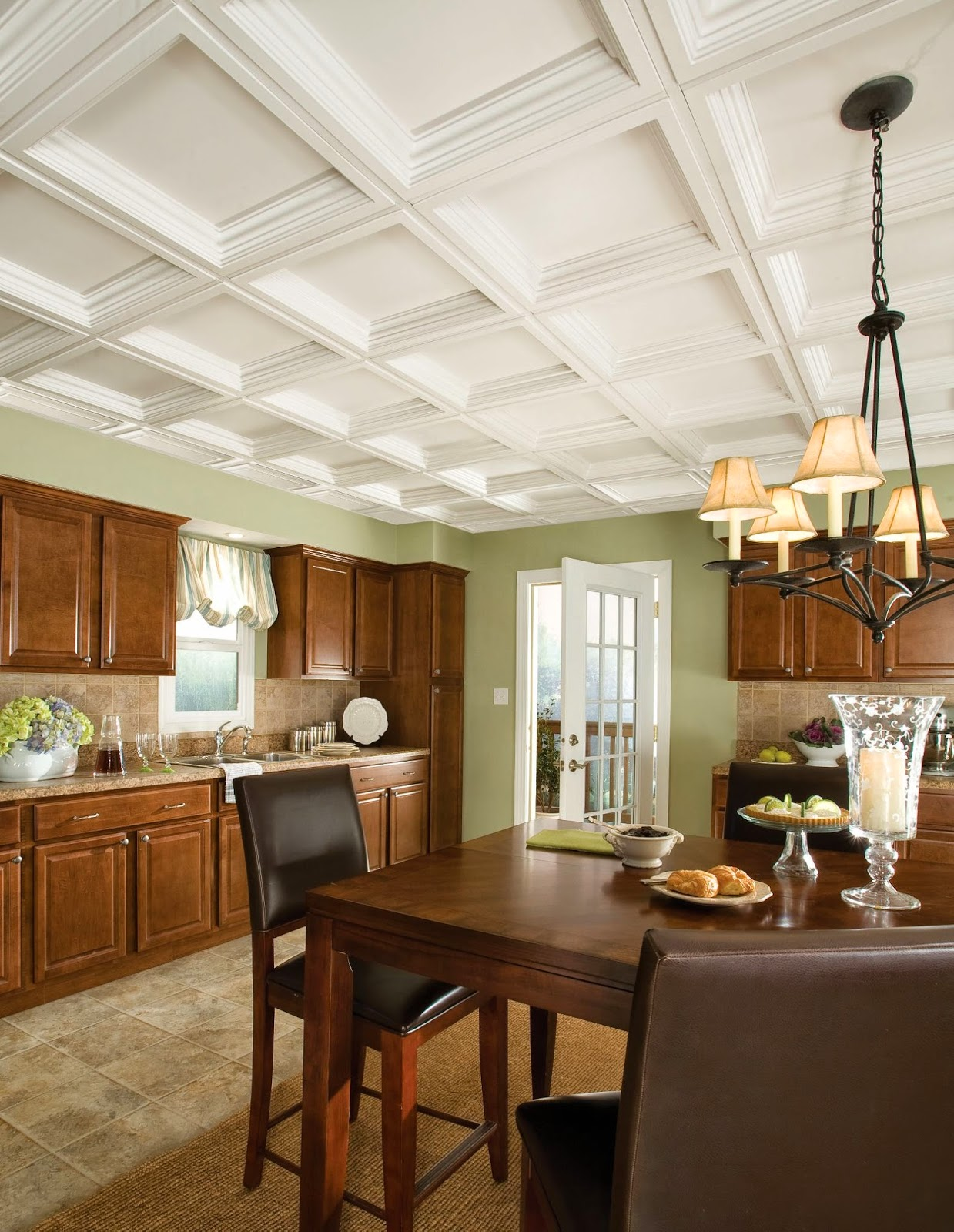 You may ask, so how could Armstrong Residential Ceilings help me fix a  ceiling problem like the one shown in the photo above? Here's how...with a  ceiling ...