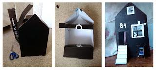 дом из коробки от обуви ecco