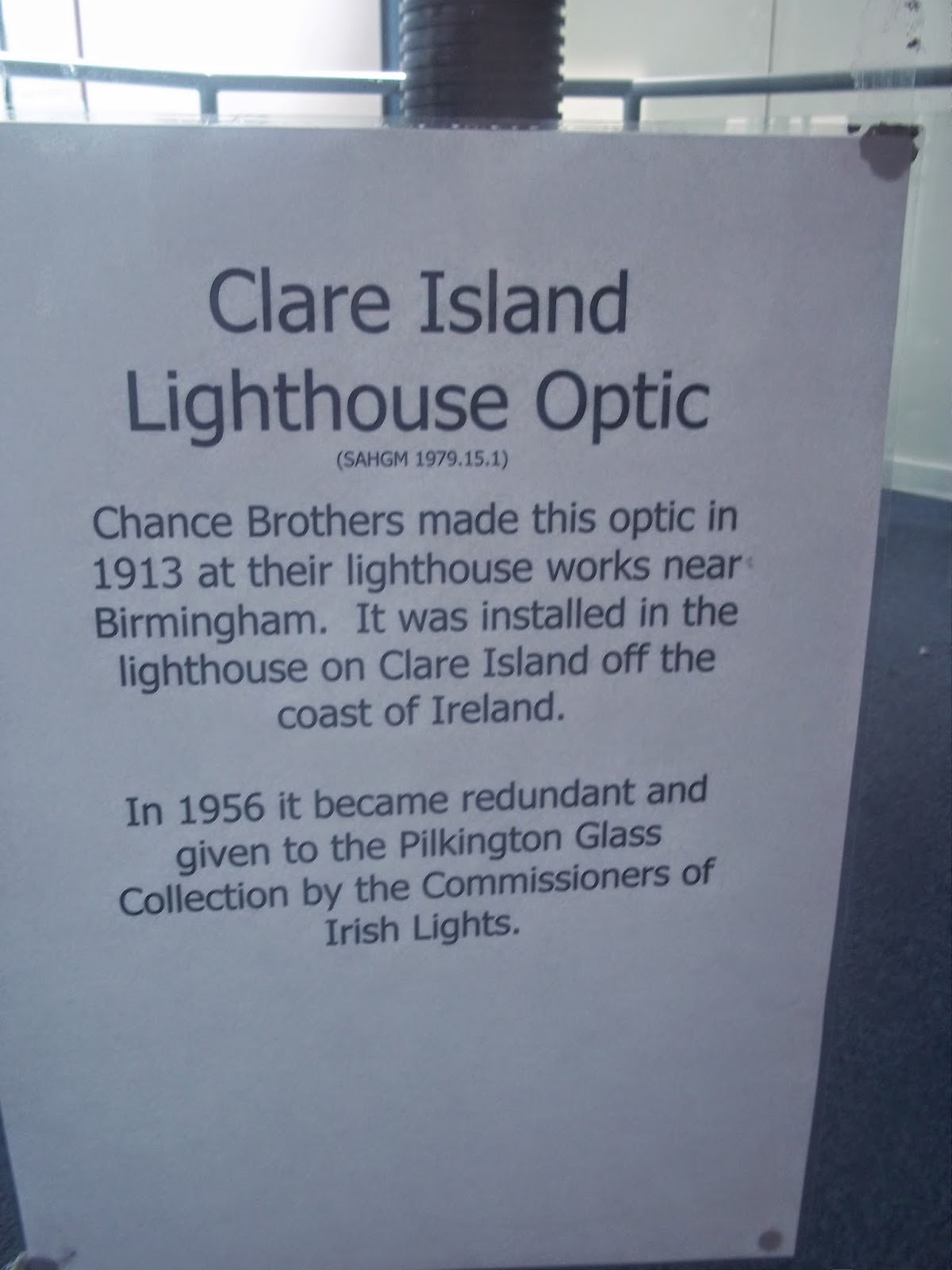 Clare Island Lighthouse optic World of Glass St Helens