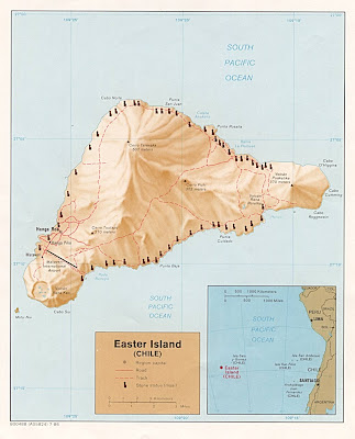 Geological Eastern Island map