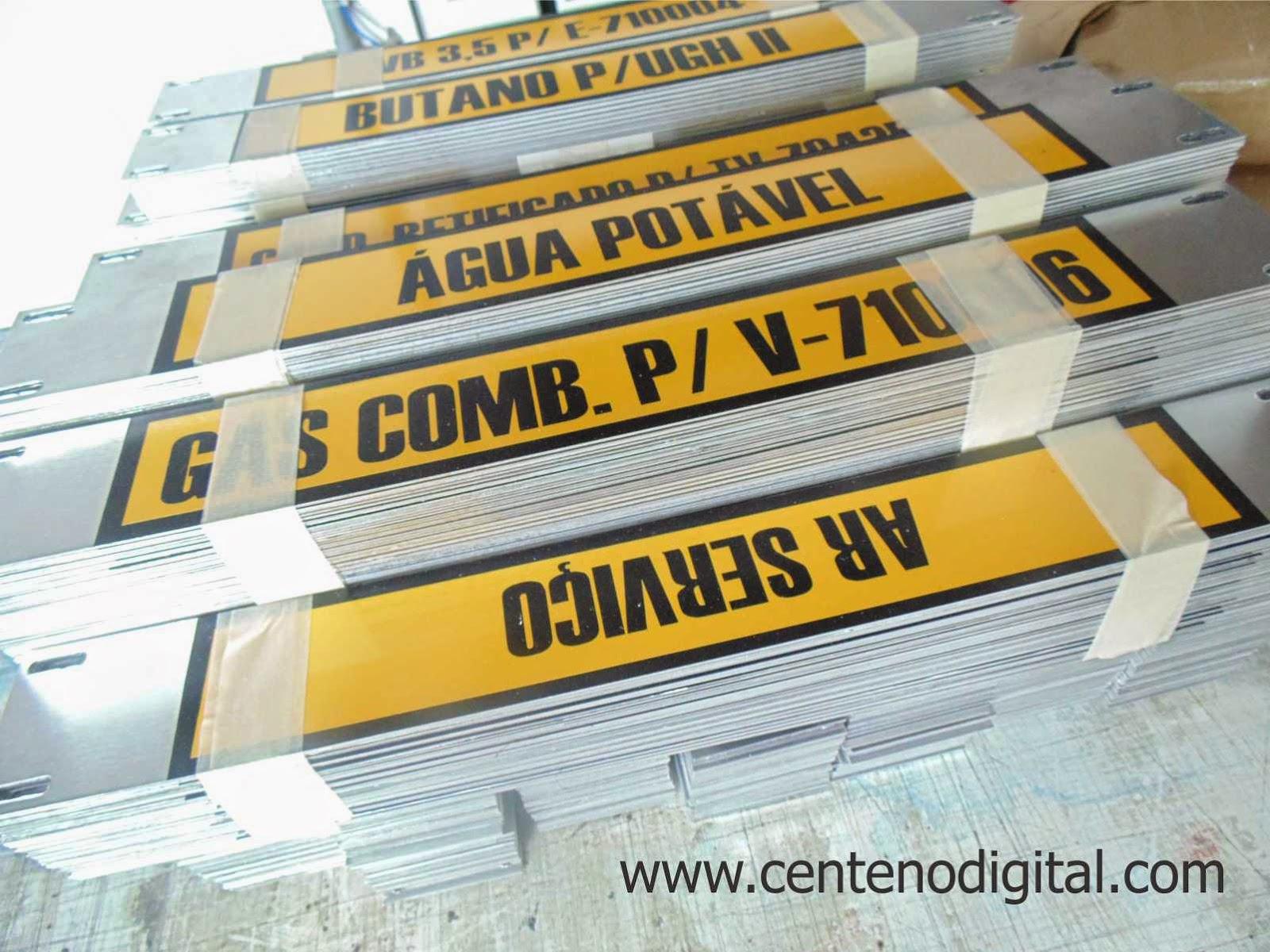 Placas de aluminio sinaliza o de linhas refap - Placas de aluminio ...