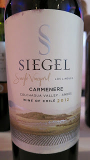 Siegel Single Vineyard Los Lingues Carmenère 2012 - Colchagua Valley, Chile (89 pts)
