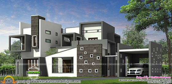 Luxurious contemporary style house plan