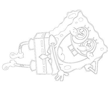 #13 Spongebob Coloring Page