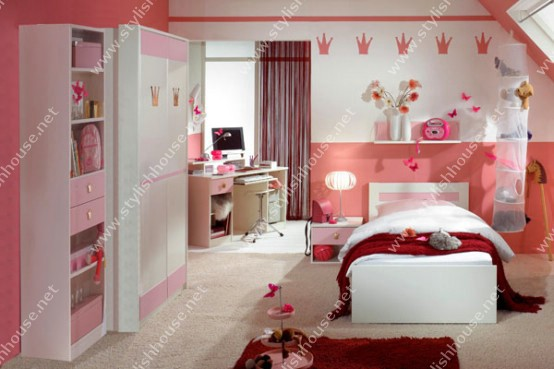 Pinky bedroom furniture set for your stylishly house