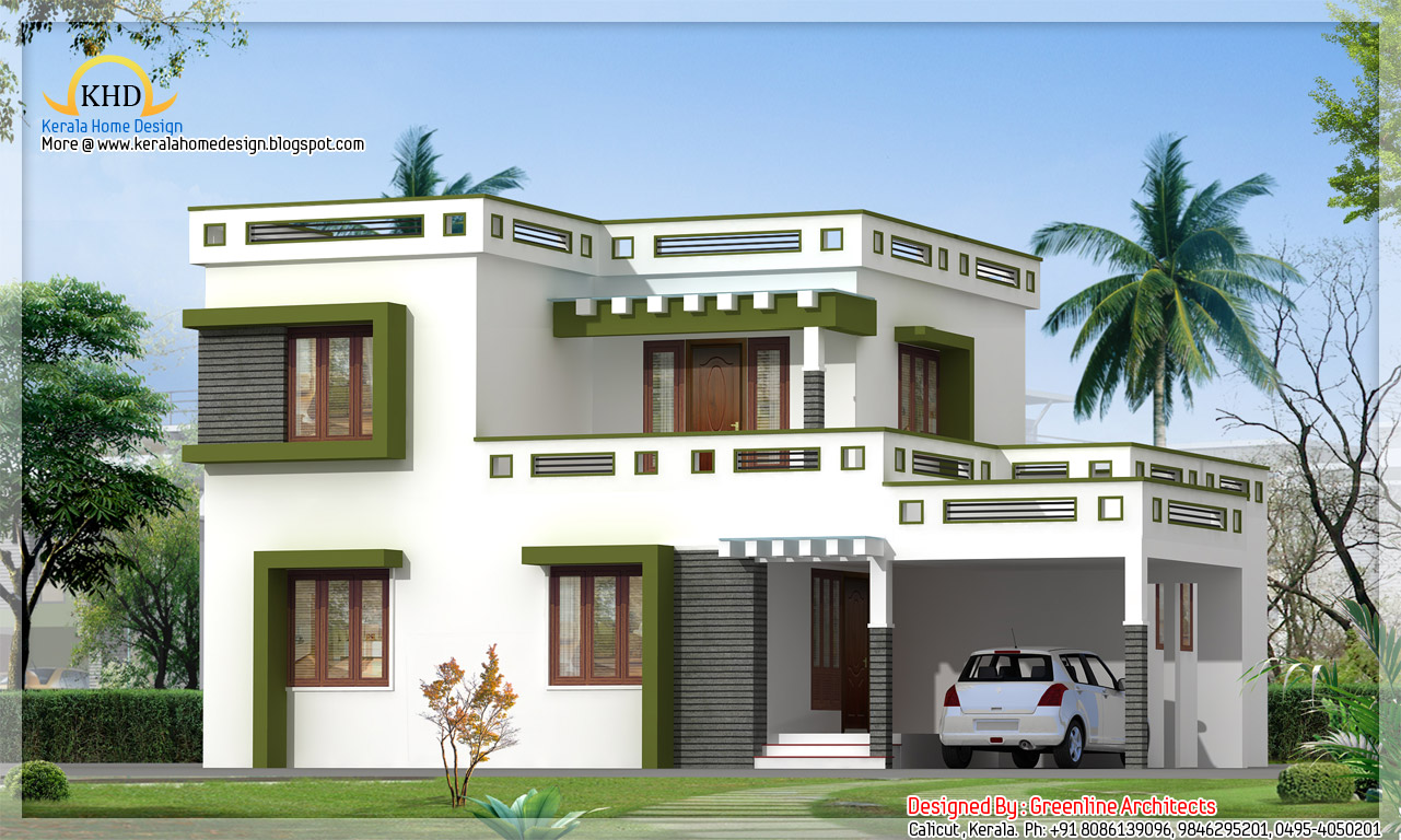 Modern house finishings homes designs housecontemporary house designs sq feet 4 bedroom