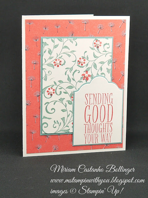 Miriam Castanho Bollinger, #mstampinwithyou, stmapin up, demonstator, ppa, get well, wildflower fields dsp. first sight stamp set, perfect pennants, big shot, lots of labels framelits, su
