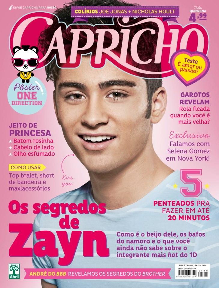 Conhecido Viciadas por One Direction: Revista Capricho Com One Direction FB57